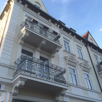 Denkmalgeschützte Fassade Maler München
