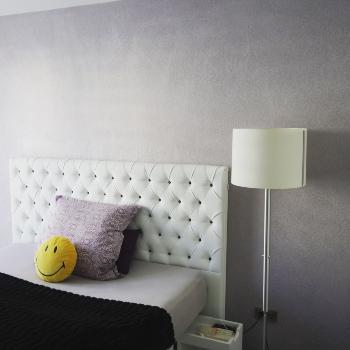 Schlafzimmer Flüssigtapete